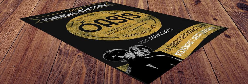 Vintage Knebworth Oasis Gig Poster Print