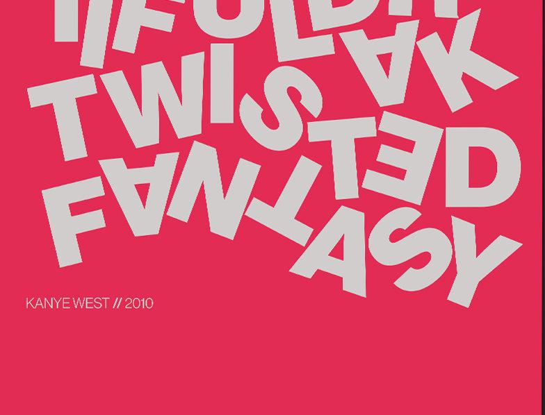 Kanye West My Dark Twisted Fantasy Swiss Poster Art Print