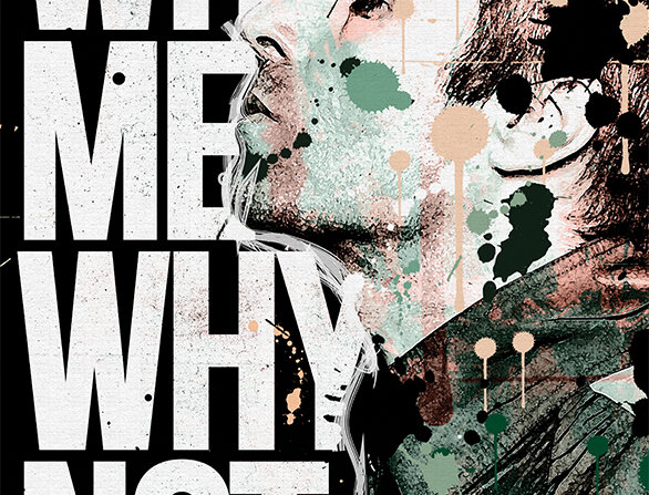 Liam Gallagher Why Me? Why Not. Graffiti Poster Art Print