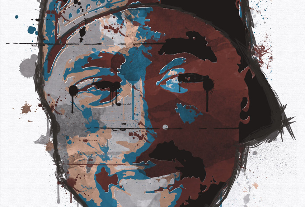 2Pac Poster Art Print Stencil Hip-Hop Painted Graffiti Art Reproduction