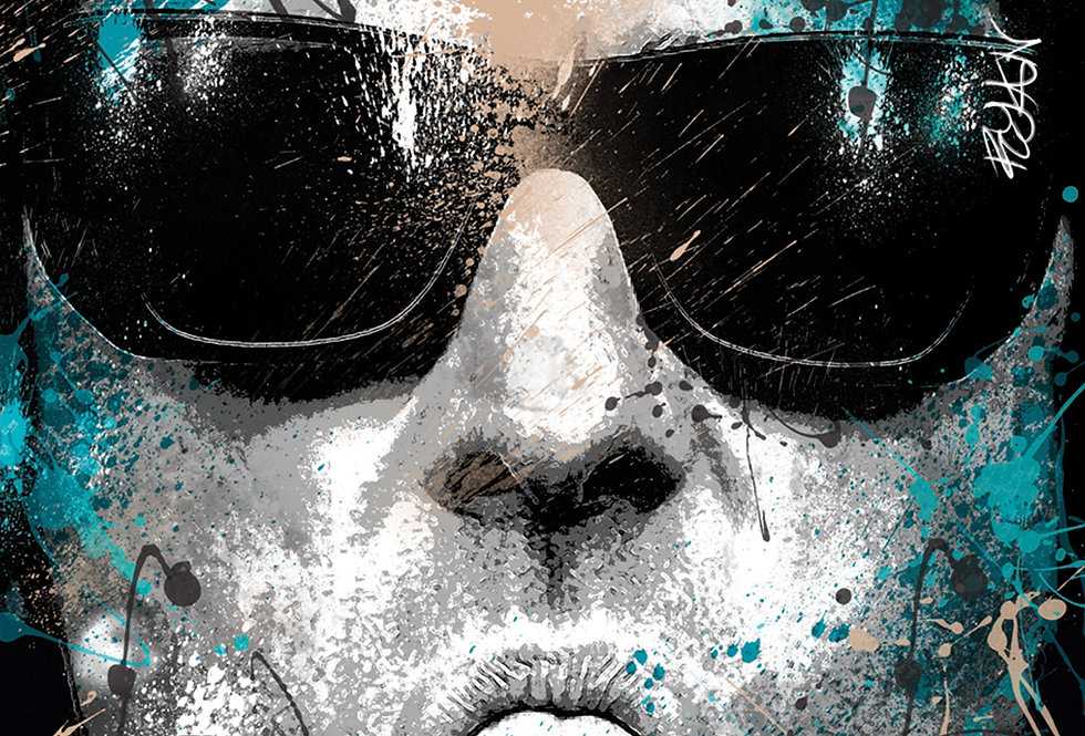 The Dogs Pollocks Liam Gallagher Spray Paint Poster Art Print