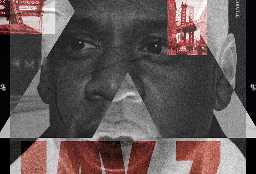 Jay-Z Reasonable Doubt Poster Art Print Hip-Hop Swiss Grunge