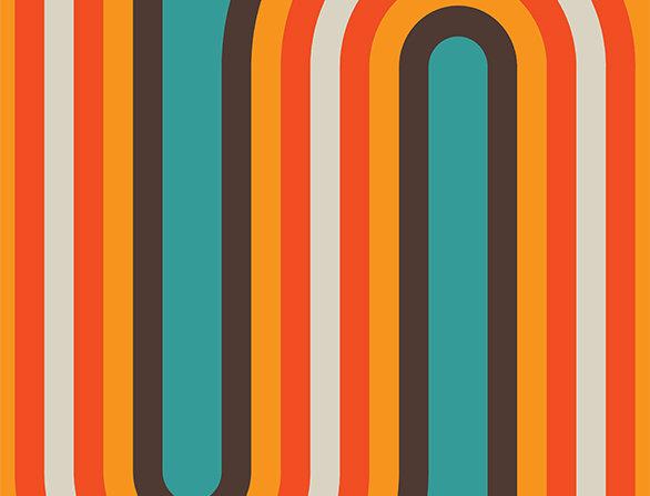 Retro Lounge Frankfort Bends 60s Love Poster Art Print