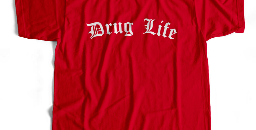 Drug Life Thug Life Weed Tee Hoody