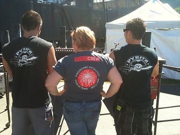 pyrotechnician travel writer back stage skillet band
