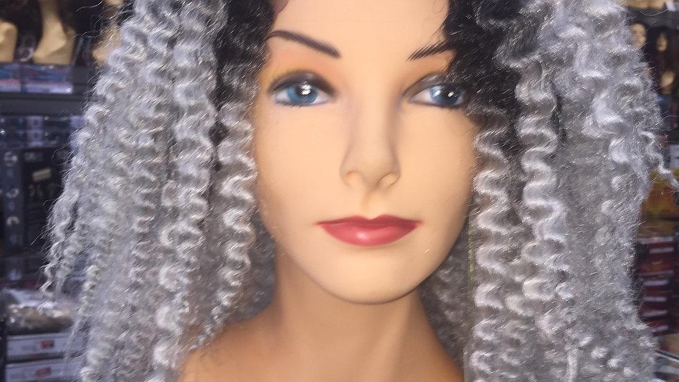 Silver Kinky Curls
