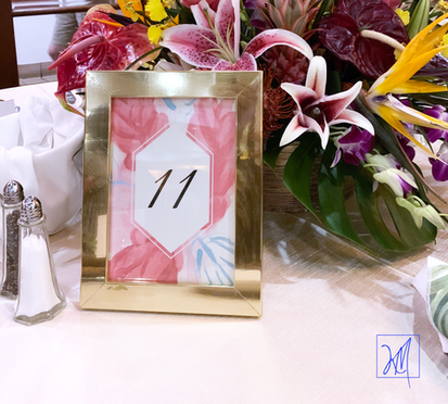 Jes and Vince Table Numbers