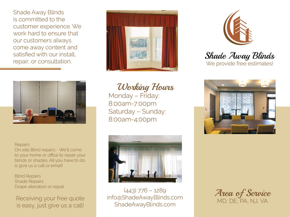 Shade Away Blinds Brochure