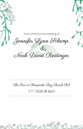 Jen and Noah Wedding Invitations