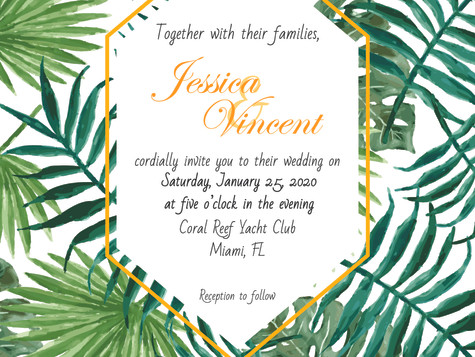 Jes and Vince Wedding Invitations