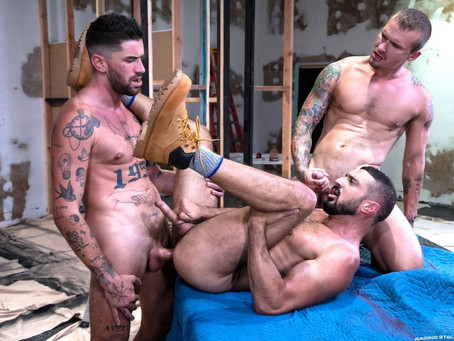 Raging Stallion - Caulk Job - Marco Napoli, Chris Damned & Isaac X