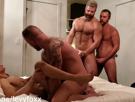 4MyFans - GangBang – Cain Marko, Jack Vidra, Hunter Holzman & Levy Foxx