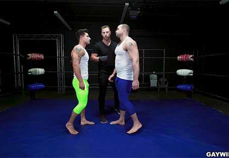 GayWire – Oiled Gay Championship Wrestling – Vadim Black and Jaxx Thanatos