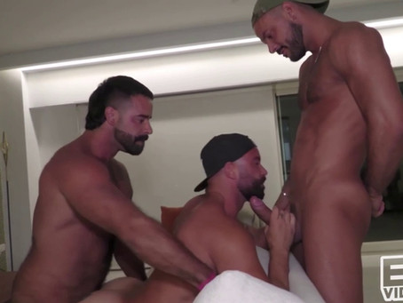 Eric Videos - Horny at the beach - Bruno Max, Sir Peter & Teddy Torres