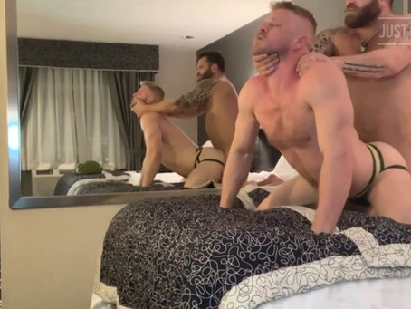JustForFans - LA Hotel - Logan Stevens & Riley Mitchel