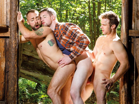 Falcon Studios – Into The Woods – Gabriel Clark, Jeremy London & Thyle Knoxx