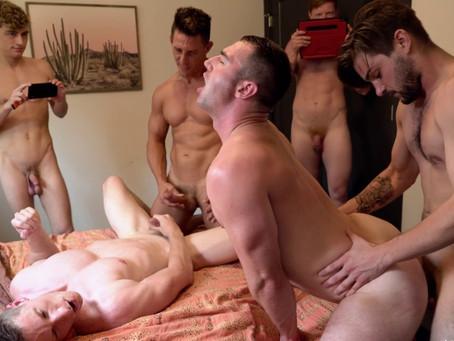 JohnnyRapid - Impromptu Orgy - Johnny Rapid, Michael Boston, Jax Thirio, Kyle Connors & Jesse Bolton