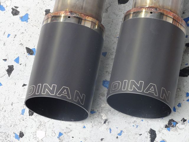 _dinancars exhaust getting ready to be installed on a 2015 X6 M