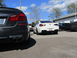 A F10 M5 & F13 M6 at the shop for service