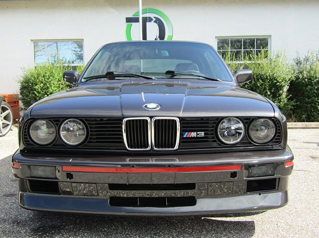 A 1988 M3 at the shop for service