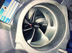 _pureturbos N55 stage 2 turbo prepped and ready for installation