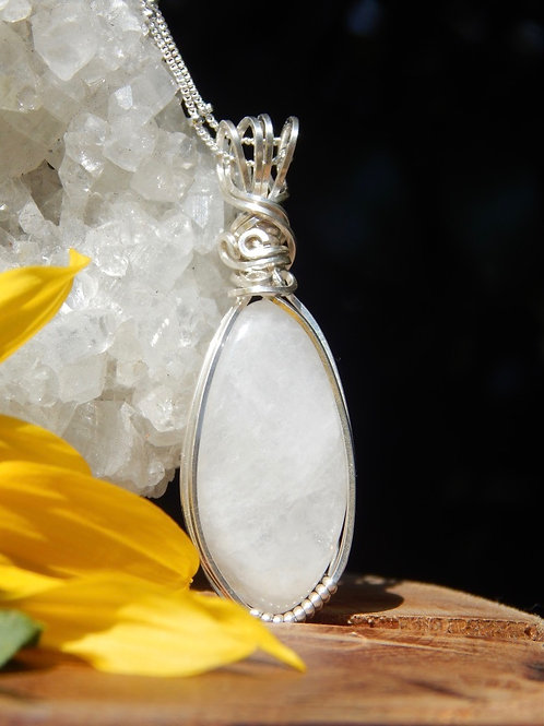 Rainbow Moonstone in .925 Sterling Silver
