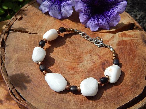 Mountain Jade & Wood Bracelet