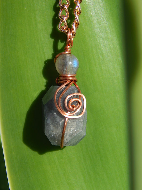 Double Labradorite in Copper