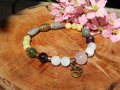 Anxiety & Depression Relief Bracelet with Om Charm