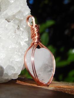 Quartz Heart Amulet