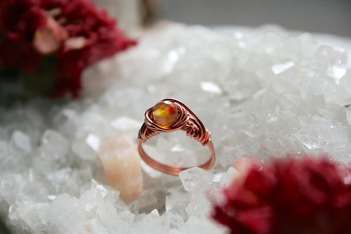 Faceted Agate Ring in Copper