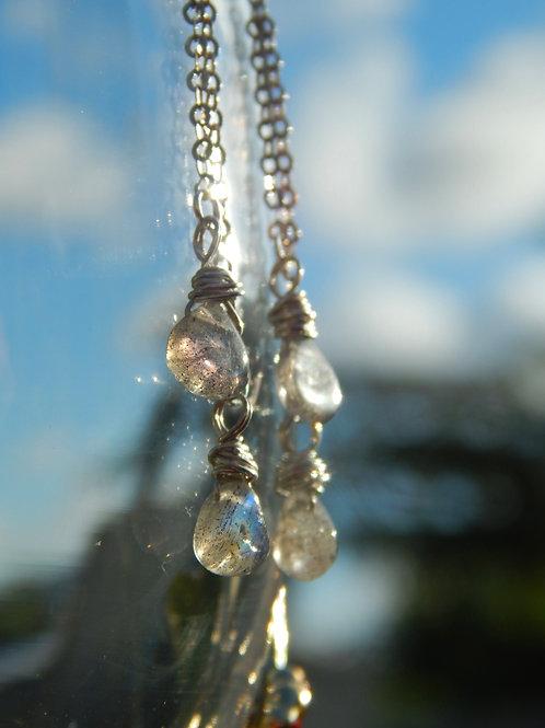 Labradorite Earrings in .925 Sterling Silver
