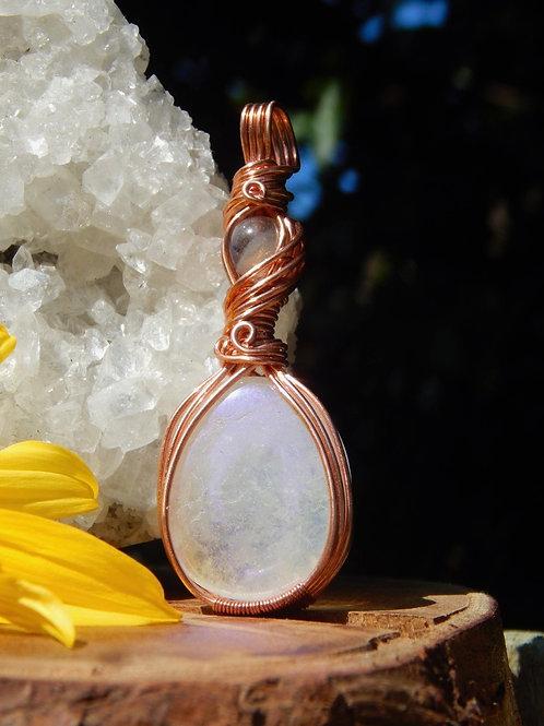 Aura Quartz & Labradorite in Copper