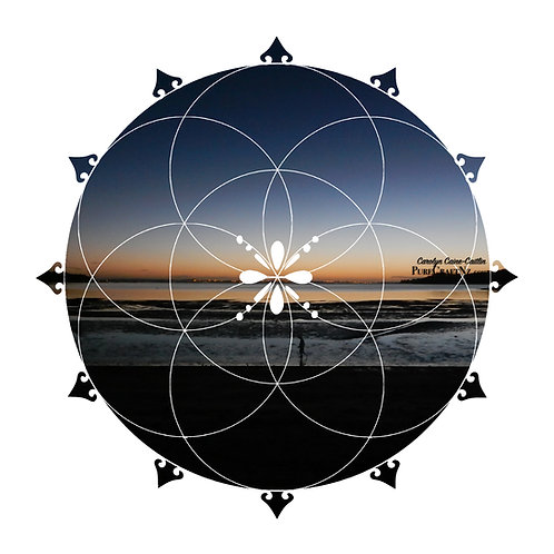 Waiheke Dusk Seed of Life Crystal Grid