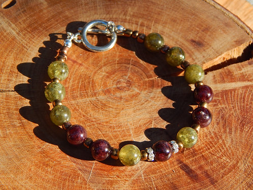 Full Garnet Bracelet featuring Swarovski Crystals