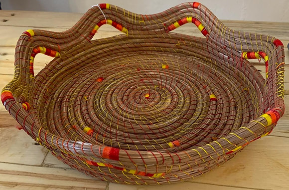 Spiral basket w/ yellow and red trim