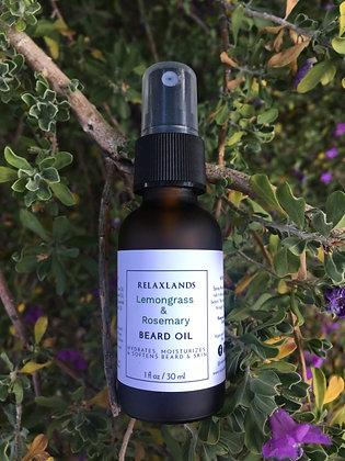 Relaxlands - Lemon grass & Rosemary Beard Oil