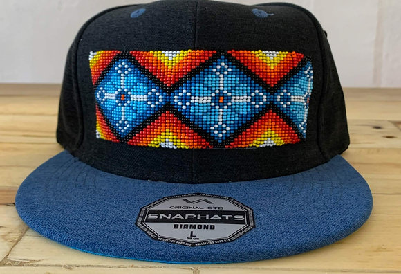 Blue beaded four directions