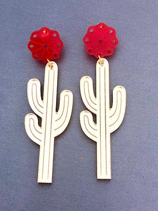Acrylic Rose Saguaros