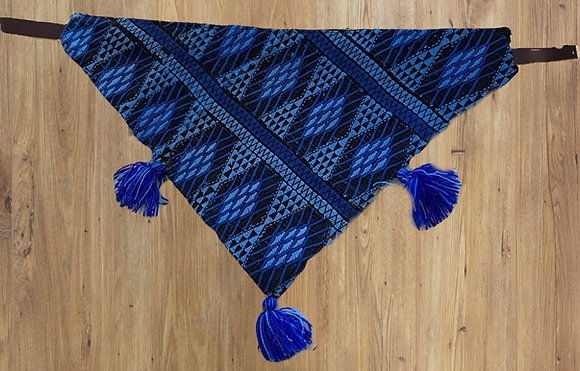 Blue Izcuintli bandana collar, large