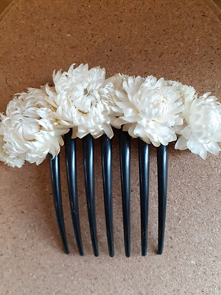 Natural flower hair combs- Milagros del desierto