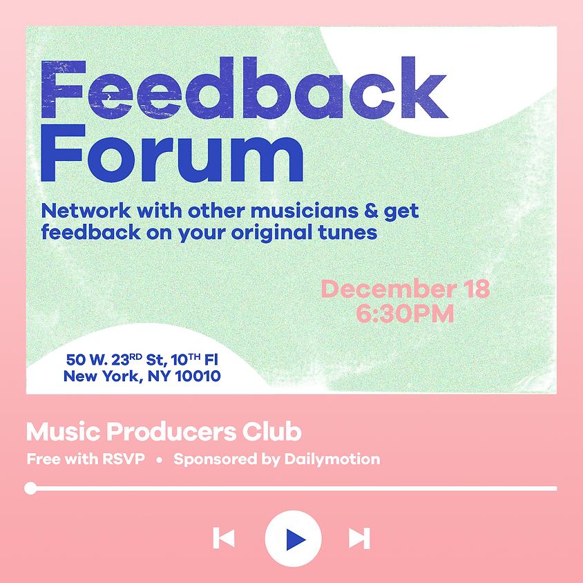 Feedback Forum 01