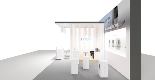 3D Rendering of Smartec Booth Design