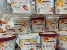Haagen Dazs ice cream cup tower