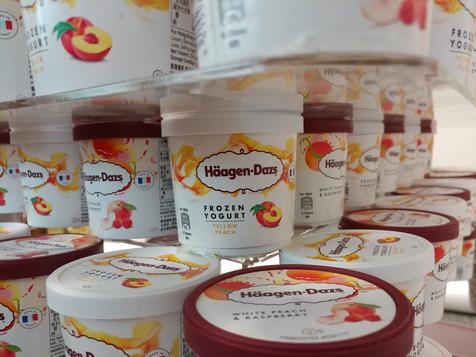 Haagen Dazs ice cream cup tower