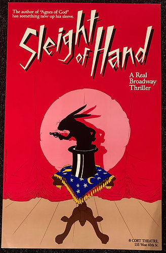 Sleight of Hand Broadway Cort Theatre Show - Window Card Poster