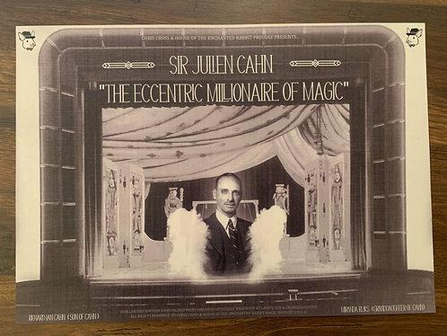 Sir Julien Cahn - Eccentric Millionaire of Magic Poster Print