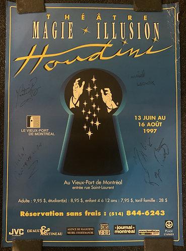 Houdini Theatre Magie Illusion SIGNED