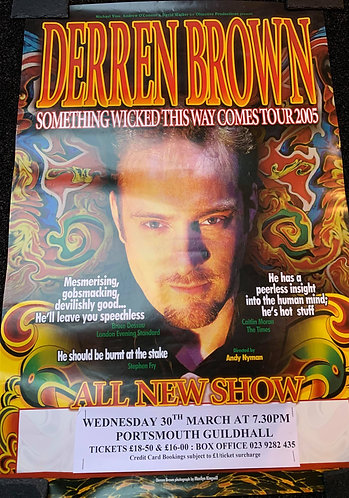 Derren Brown - Something Wicked This Way Comes - Tour Poster