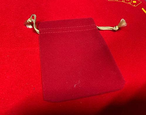 Red Velvet Bag for Coins, Etc